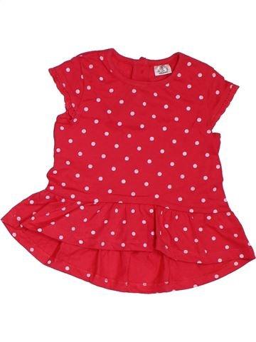 Camiseta de manga corta niña F&F rojo 6 meses verano #1311505_1