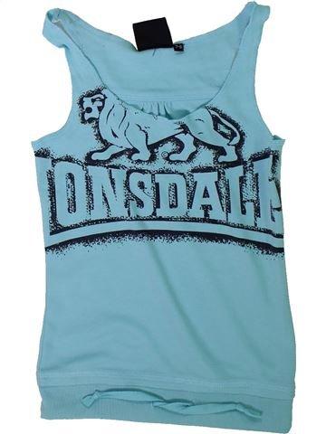 T-shirt sans manches fille LONSDALE bleu 8 ans été #1311632_1