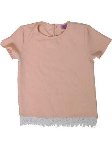 Blusa de manga corta niña F&F rosa 6 años verano #1311684_1