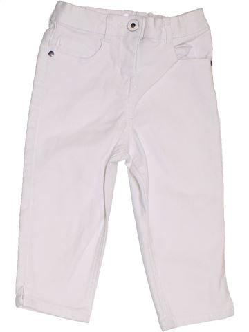 Pantalón corto niña GEORGE blanco 5 años verano #1311692_1