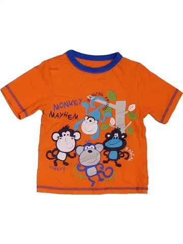 Camiseta de manga corta niño GEORGE naranja 4 años verano #1311760_1