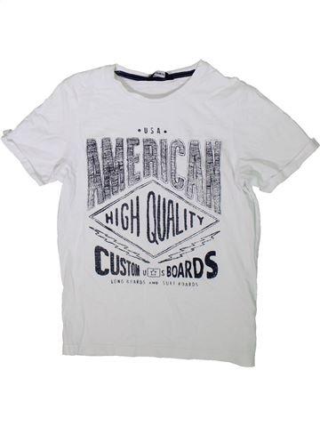 Camiseta de manga corta niño GEORGE blanco 10 años verano #1311985_1