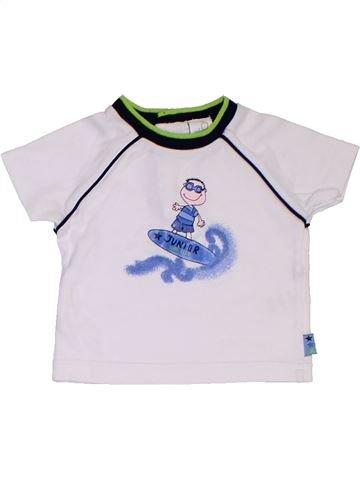 T-shirt manches courtes garçon ADAMS blanc naissance été #1312060_1