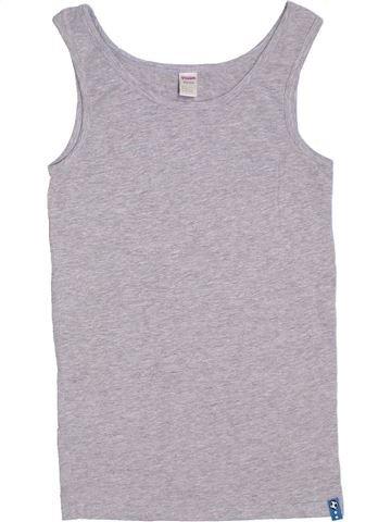 T-shirt sans manches fille YIGGA gris 14 ans été #1314732_1