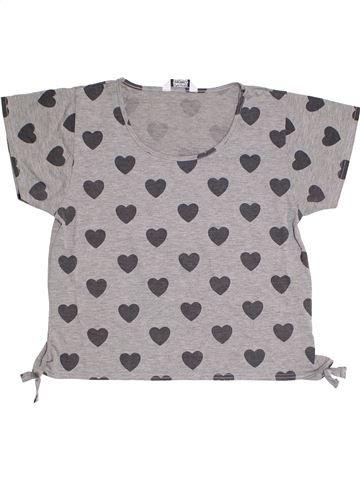 T-shirt manches courtes fille TAMMY gris 14 ans été #1314849_1