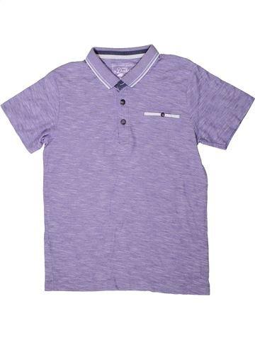 Polo manches courtes garçon DUDES violet 11 ans été #1316405_1