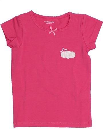 T-shirt manches courtes fille VERTBAUDET rose 3 ans été #1321739_1
