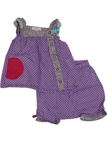 Conjunto niña MOULIN ROTY violeta 3 meses verano #1321784_1