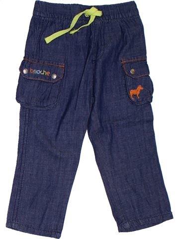 Pantalon garçon BRIOCHE bleu 9 mois été #1322740_1