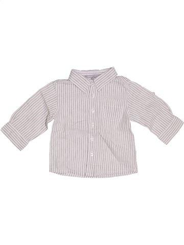 Chemise manches longues garçon 3 SUISSES blanc 12 mois hiver #1323117_1
