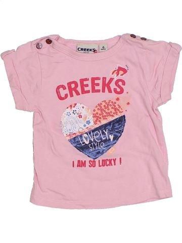 T-shirt manches courtes fille CREEKS rose 6 mois été #1323269_1
