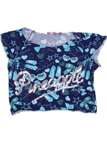 T-shirt manches courtes fille PINEAPPLE bleu 10 ans été #1325039_1
