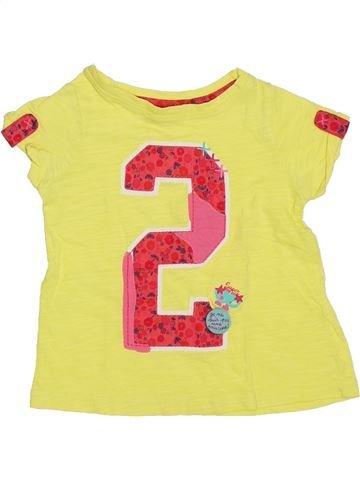 T-shirt manches courtes fille DPAM jaune 3 ans été #1325968_1