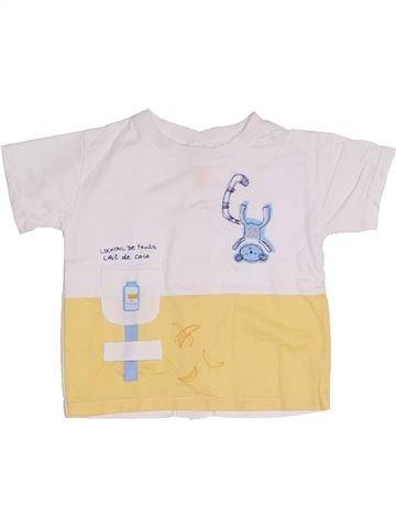 T-shirt manches courtes garçon MARÈSE blanc 6 mois été #1326323_1