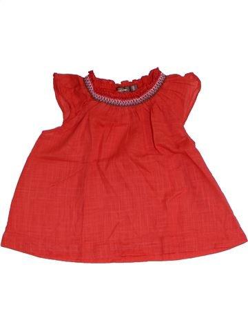 Blouse manches courtes fille BOUT'CHOU rouge 2 ans été #1326731_1