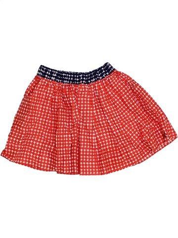 Falda niña PETIT BATEAU rojo 4 años verano #1326784_1