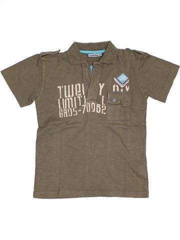 T-shirt manches courtes garçon TAPE À L'OEIL marron 8 ans été #1326965_1