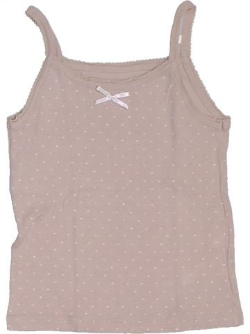 T-shirt sans manches fille CFK beige 5 ans été #1326984_1
