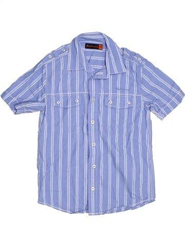 Chemise manches courtes garçon BEN SHERMAN bleu 8 ans été #1327116_1