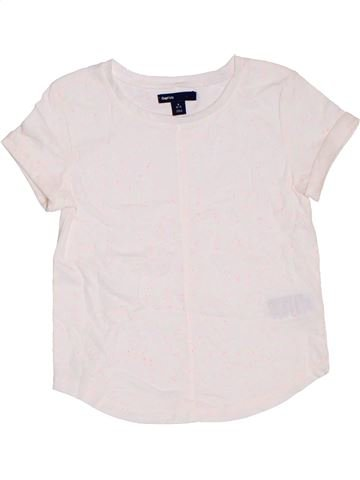 T-shirt manches courtes fille GAP blanc 7 ans été #1327528_1