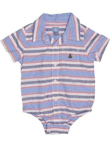 Chemise manches courtes garçon GAP violet 12 mois été #1328322_1
