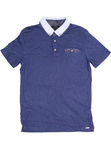 Polo manches courtes garçon MARKS & SPENCER bleu 12 ans été #1328709_1