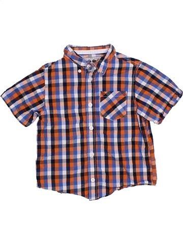 Chemise manches courtes garçon BOYS violet 5 ans été #1328851_1