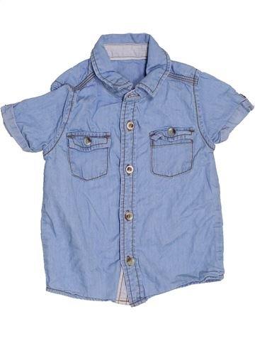Chemise manches courtes garçon GEORGE bleu 12 mois été #1328918_1