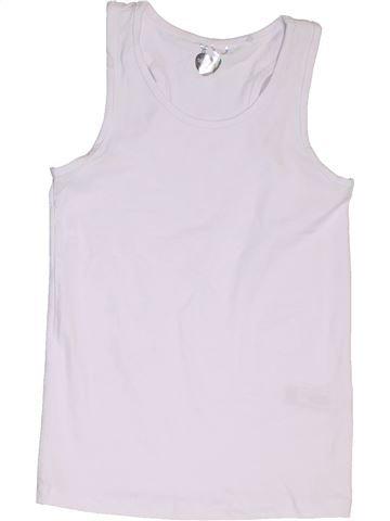 T-shirt sans manches fille DEBENHAMS blanc 10 ans été #1329314_1