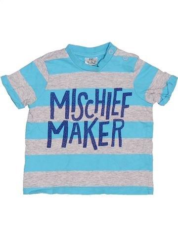 T-shirt manches courtes garçon F&F bleu 6 mois été #1329674_1