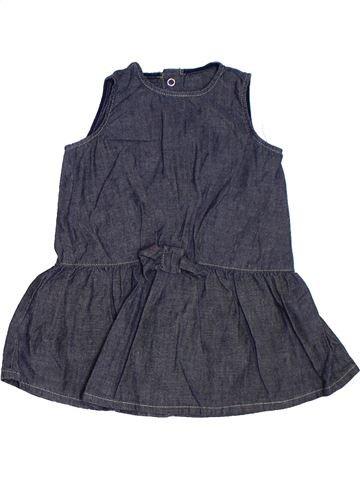 Vestido niña BENETTON azul 9 meses verano #1329693_1