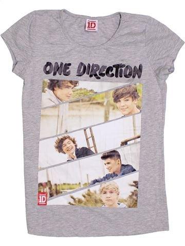 T-shirt manches courtes fille ONE DIRECTION gris 13 ans été #1330116_1