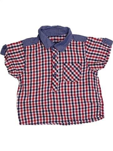 Chemise manches courtes garçon MUMMY'S violet 6 mois été #1330336_1