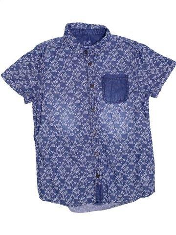 Chemise manches courtes garçon F&F bleu 12 ans été #1330445_1
