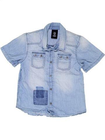 Chemise manches courtes garçon H&M bleu 7 ans été #1330758_1