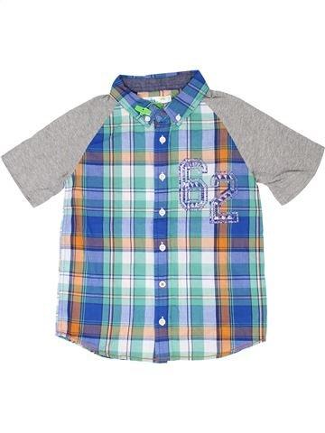 Chemise manches courtes garçon M&CO gris 8 ans été #1330772_1
