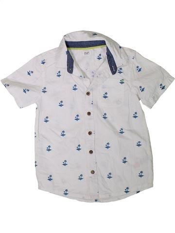 Chemise manches courtes garçon F&F blanc 7 ans été #1331112_1
