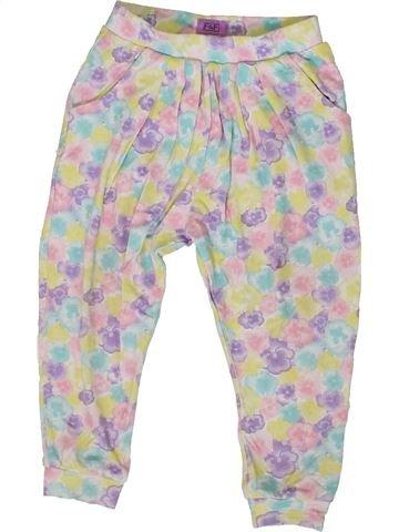 Pantalon fille F&F blanc 2 ans été #1331465_1