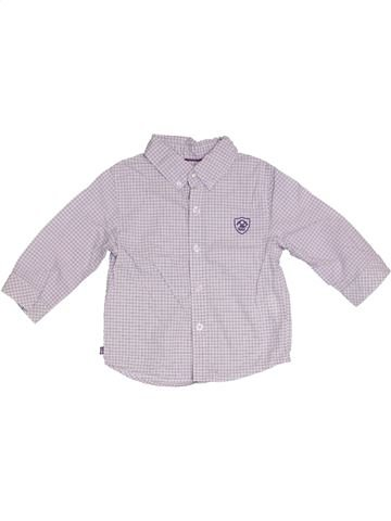 Chemise manches longues garçon OKAIDI blanc 12 mois hiver #1331492_1