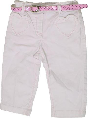 Pantalon fille GEORGE blanc 3 ans été #1331497_1