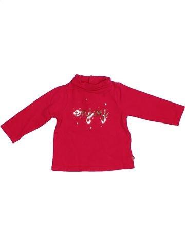 T-shirt col roulé fille OKAIDI rouge 6 mois hiver #1331614_1