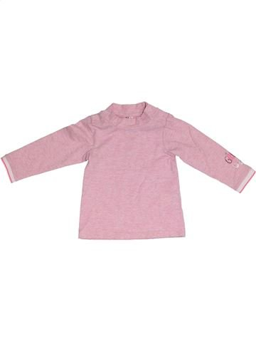 T-shirt manches longues fille ORCHESTRA rose 6 mois hiver #1331617_1