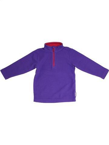 Pull fille QUECHUA violet 4 ans hiver #1331709_1