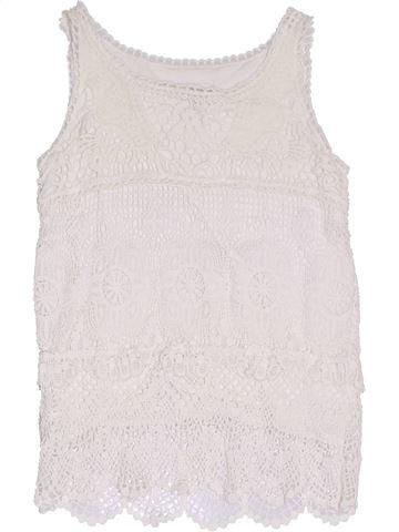 T-shirt sans manches fille H&M blanc 6 ans été #1331789_1
