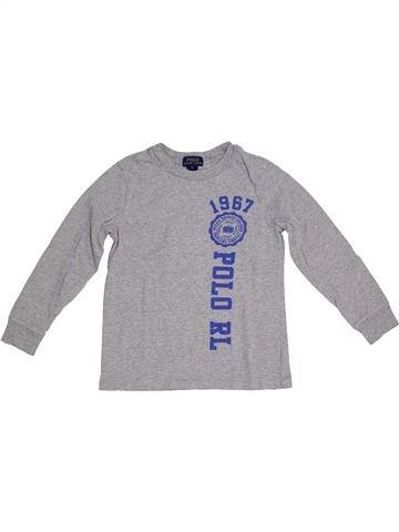 T-shirt manches longues garçon RALPH LAUREN gris 6 ans hiver #1331798_1