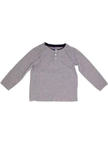 T-shirt manches longues garçon OKAIDI gris 8 ans hiver #1331802_1
