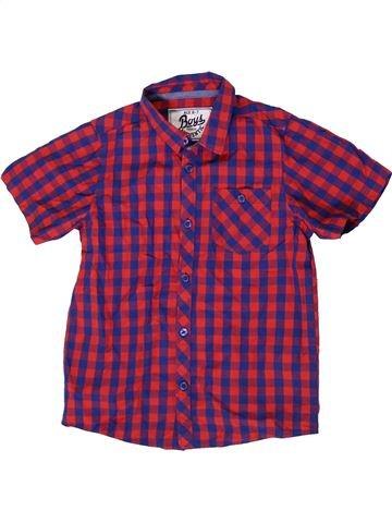 Chemise manches courtes garçon MATALAN violet 7 ans été #1331842_1