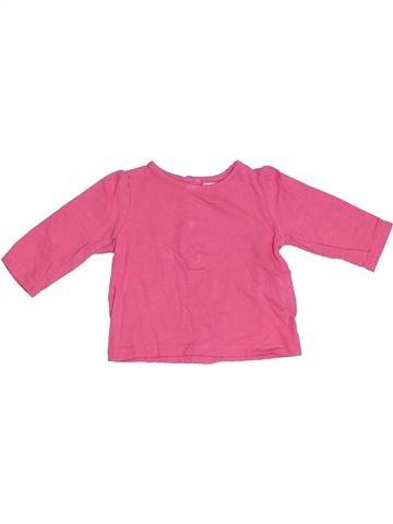 T-shirt manches longues fille PAT ET RIPATON rose 3 mois hiver #1332151_1