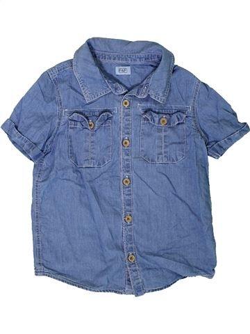 Chemise manches courtes garçon F&F bleu 7 ans été #1332219_1
