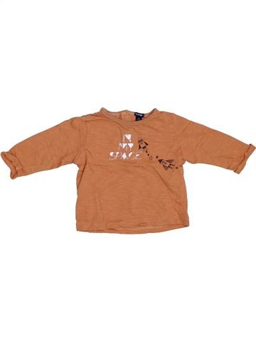 T-shirt manches longues garçon KIABI orange 9 mois hiver #1332838_1